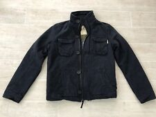 NEW Hollister Men's Hammerland Blue Lined Military Jacket Coat - Navy - Small