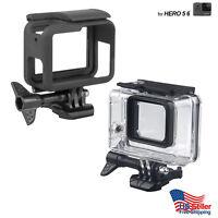 GoPro Hero 3 3+ 4 5 6 Underwater Waterproof Dive Housing Transparent Frame Cover