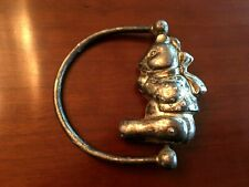 Vintage Used Unbranded Silver Metal Bear Baby Rattle Sterling? Decorative