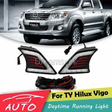 DRL FOR TOYOTA HILUX VIGO 2011 2012 2013 2014 LED DAYTIME RUNNING LIGHT FOG LAMP