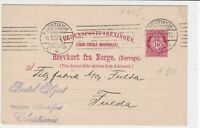 norway 1907 stamps card ref 19399