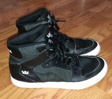 Supra Kids Big Boys Hi Top Vaider Sneakers Black White Herringbone Sz 6.5 Shoes