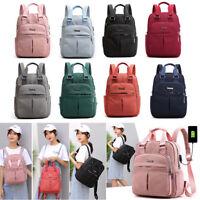 Rucksack Damen Daypack Schultasche Laptop-Schulrucksack mit USB Anschluss