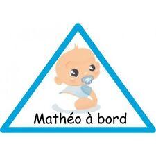 Sticker Bébé à Bord Personnalisé Garçon Autocollant