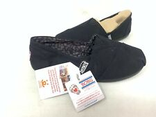 NEW! Skechers Women's BOBS PLUSH PEACE AND LOVE Flats Black #33645 200MN z