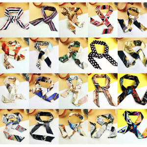 Women Twilly Silk Ribbon Scarf Wrap Tied Bag Handle Hair Tie 20 Prints New Stock