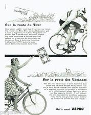 PUBLICITE ADVERTISING 036  1959  Aspro & La Croix Rouge aspirine Tour de France