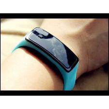 Silicone quarzo al Unisex gomma analogico sport donna orologio da polso Watch xv