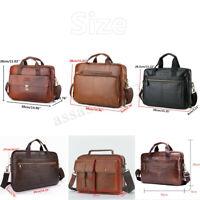 Men Business Genuine Leather Briefcase Handbag Laptop Shoulder Messenger Bag