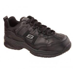Skechers Work WIDE FIT:SOFT STRIDE-GRINNEL Mens Safety Composite Toe Shoes Black
