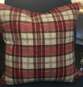Two Moon Fabric Montacute Red 79% wool 17 Cushion covers D/S Laura Ashley Sample