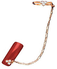Italian Jewelry DESIGNER Ring mit Piercing Kette Cvr1 Nr. 4 Top Markenware