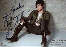 ADAM LAMBERT HAND SIGNED 5x7 COLOR PHOTO      HANDSOME+SEXY SINGER      HOT POSE