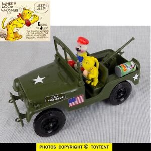 Popeye Patrol with Eugene the Jeep in an Army jeep with spinach can ammo