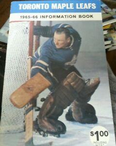 TORONTO MAPLE LEAFS Media Guide 1965-66 Johnny Bower Goalie Hockey Information