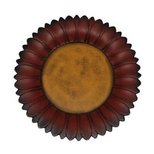 Sunflower Shape Plate Country Vintage Wooden Plate Home and Office Decor Art