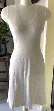 Off White Sleeveless Summer Fresh Bodycon Women Dress Size Medium