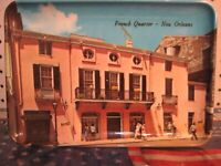 New Orleans French Quarter Decorated Melamine Souvenir Tray - New Orleans Gifts