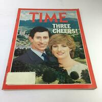Time Magazine: August 3 1981 - Three Cheers! Charles & Dianna on Cover