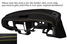 Amarillo Stitch Dash Dashboard Leather Skin Tapa se ajusta Mitsubishi L200 K74 98-06