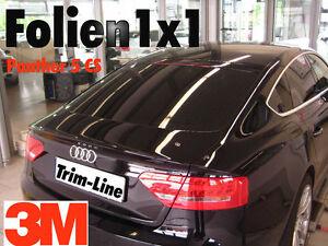 30,63€/qm 3M Panther 5CS Auto-Scheiben Tönungsfolie tiefschwarz 280x51+130x75cm