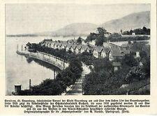 Arbeiterhäuser der Schokoladenfabrik Suchard  (Serriéres ) Histor.Aufnahme 1909