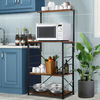 4-Tiers Kitchen Baker's Rack Microwave Oven Stand Storage Workstation Shelf