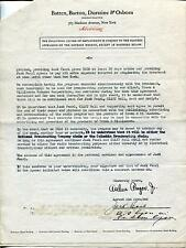 JACK PEARL SILENT ACTOR / MEET THE BARON  STONEY BURKE SIGNED CONTRACT AUTOGRAPH