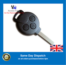 Smart Car ForTwo 2006>2014 Complete 3 button Key Remote 433 MHz