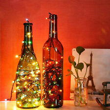 WO Cork Bottle Stopper Glass Wine 40 LED Fairy String Lights Xmas Party Decor