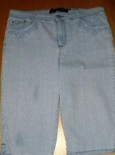 Gloria Vanderbuilt Stretchy Blue Jean Capri Jeans sz 14 P