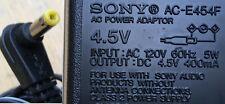 SONY US AC-E454 4.5v DC 400mA power supply 120v USA PLUG