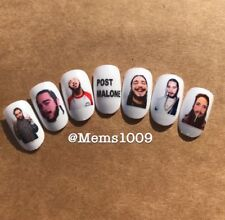 Post Malone Nail Art decals (water decals)  Rapper Nail Art Decals