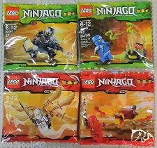 LEGO NINJAGO MINI SETS 30080 30083 30085 30087 KAI JAY ZANE COLE NEW NIB RETIRED