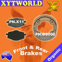 Front Rear Brake Pads Shoes Yamaha YBR125 YBR 125 05-06