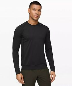 🍋 Lululemon Engineered Warmth Long Sleeve Medium Black 2021 Men's Shirt NWT