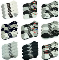 3-12 Pairs Mens Athletic Work Sports Ankle Quarter Socks Cotton Casual Size 9-13