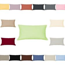 Mako Satin Cushion Cover 15 11/16x31 1/2in Pillow Case Uni 100% Cotton