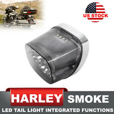Harley Davidson LED Tail Light Smoke w/ Brake Turn Signal License Plate Lights