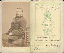 Mevius, Rennes, Le vicomte Anatole de Carcaradec, 1871 CDV vintage albumen carte