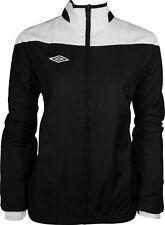 Umbro Womens Training Jacket Black White Contrast Panel Full Zip Football Hockey