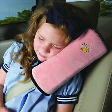 Car Safety Seat Belt Pillow Shoulder Strap Pad Cushions Head Supports Child Kids Pink
