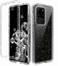 For Samsung S20 Ultre Glitter Sparkle Dual Layer Bumper Case Clear