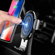 BASEUS 10w Qi Wireless Charger Car Air Vent Mount Holder for iPhone 8 X XS XR