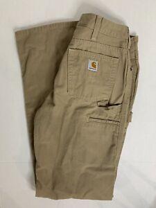 Carhartt Cotton Workwear Pants Womens 8 X 34 WB159 Carpenter