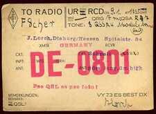 CARD  CARTE  QSL  radio amateur   ALLEMAGNE     1928   ( 355 )