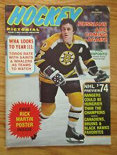 PHIL ESPOSITO Hockey Pictorial (November 1974) Magazine RICK MARTIN Poster