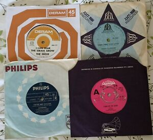 """4 x  7"""" 45's THE MOVE, CRAZY ELEPHANT & (2x) UK 70's band AUDIENCE (ELO WIZZARD)"""