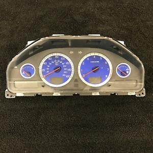 07 Volvo S60R V70R Instrument Cluster Speedometer 8602897 Blue Gauges