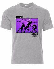 Jessica Jones Defenders Marvel DC Comics Superheroes Mens Tshirt Tee Top AL41